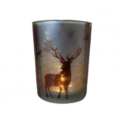 Świecznik Deer in Forest BBHome 10x13cm