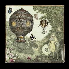 Talerz dekoracyjny Mały Książę i Róża La Volta De Nakomiady 25,5cm