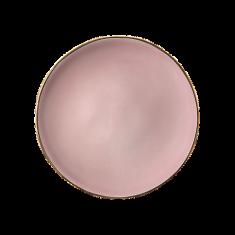Talerz porcelanowy różowy Majolika Nieborów bbhome