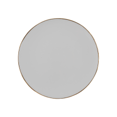Talerz porcelanowy biały Majolika Nieborów bbhome