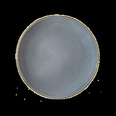 Talerz porcelanowy szary Majolika Nieborów bbhome