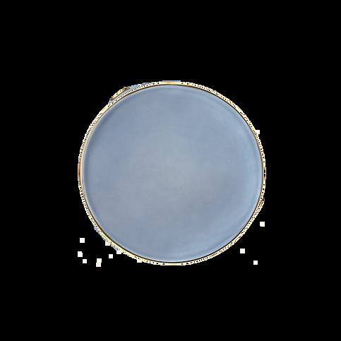 Talerz porcelanowy niebieski Majolika Nieborów bbhome