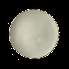 Talerz porcelanowy zielony Majolika Nieborów bbhome