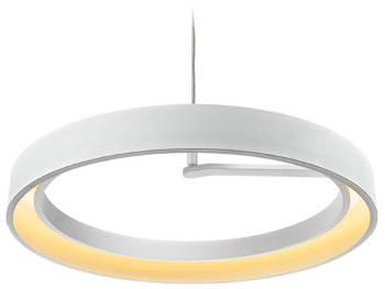 Biała geometryczna lampa wisząca Circle