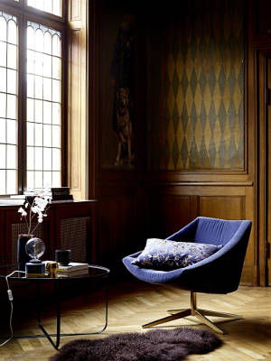 Nowoczesny fotel obrotowy Pocket Velvet Blue do biura