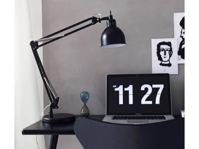 Lampa biurkowa czarna Job Matt 68 cm