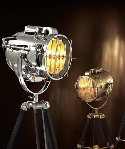 Nowoczesna lampa podłogowa od Eichholtz