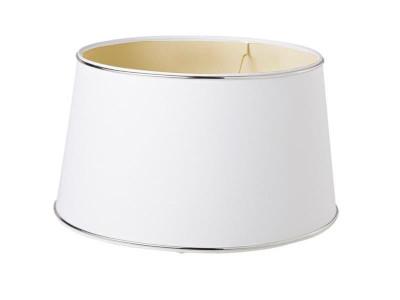 Abażur okrągły biały ze złotymi paskami Jazzy Gold