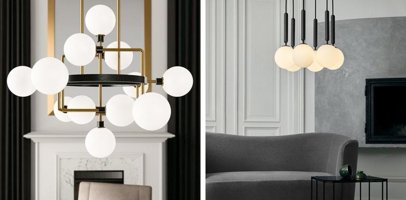 Lampy wiszące w kształcie kul