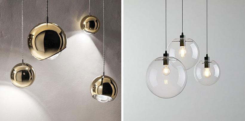 Nowoczesne szklane lampy kule