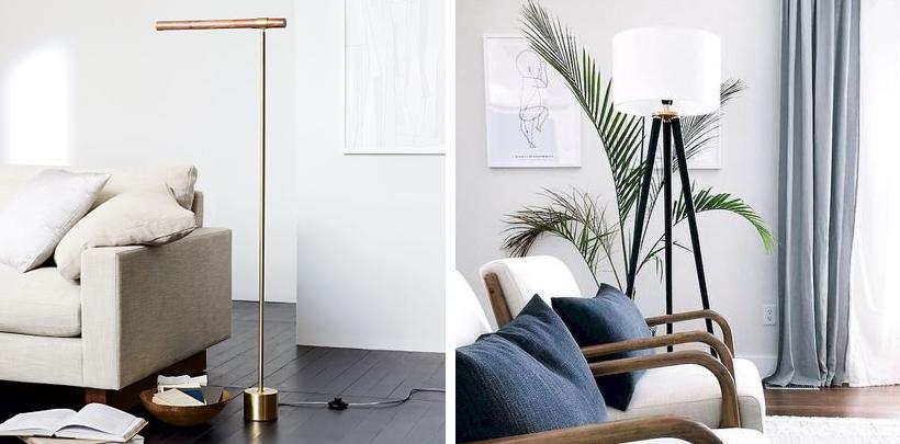 Nowoczesne lampy stojące do salonu