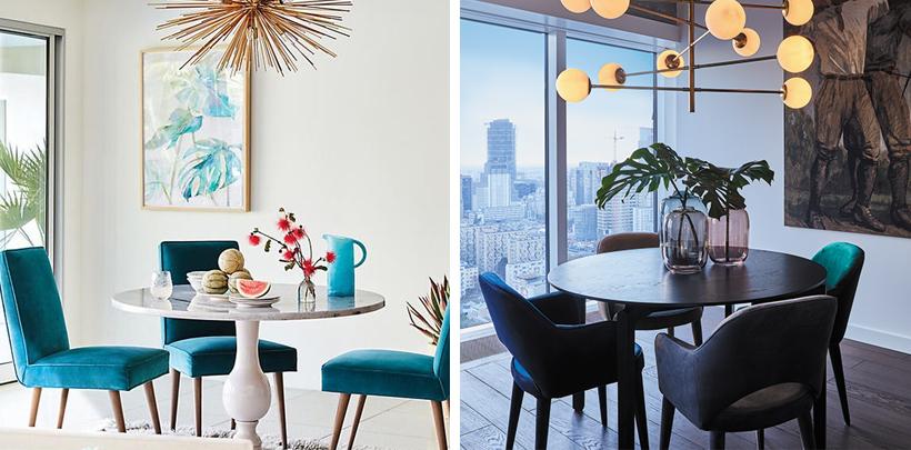 Kolorowe krzesła w nowoczesnej aranżacji
