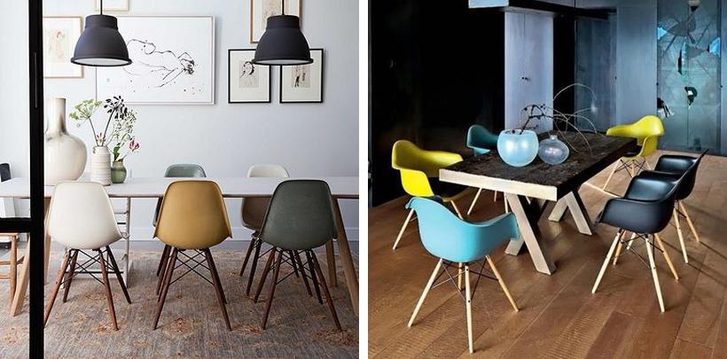 Nowoczesne kolorowe krzesła do designerskich wnętrz