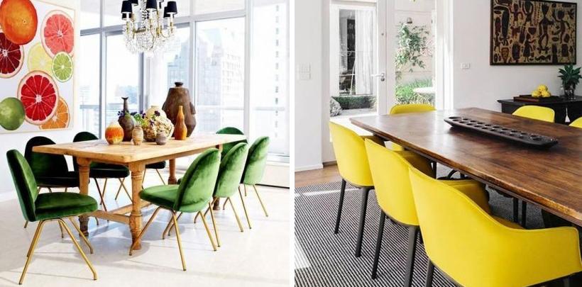 Krzesła w nowoczesnym wnętrzu