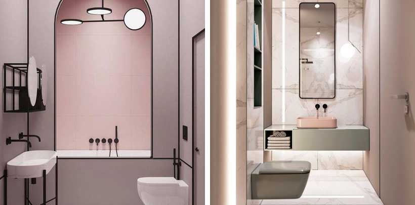 Minimalistyczna łazienka w domu