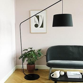 lampa podłogowa lobby black matt